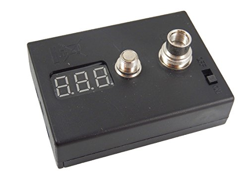 vhbw Spannungs- und Widerstandsmessgerät Ohm-Meter passend für E-Zigaretten, E-Shishas u.a.