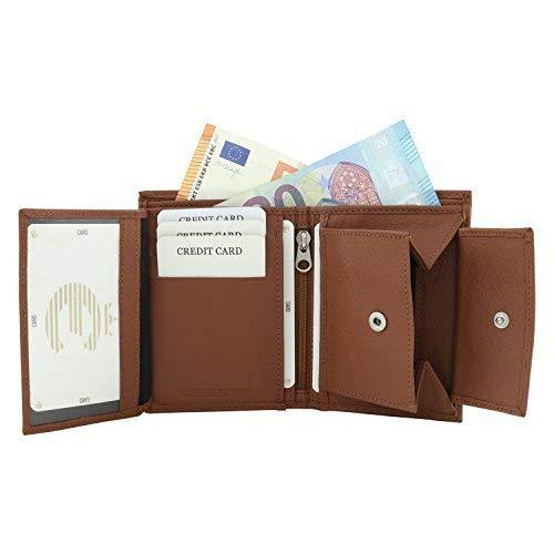 Echt Leder Geldbörse Herren in verschiedenen Farben und Größen (Hellbraun)