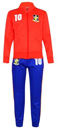 Juego de chándal para niño, equipación de fútbol, talla para edades de 4-12años, color españa, tamaño 4 (4-5 ans)