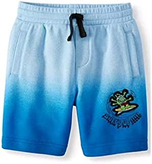 365 Kids Boys Ombre Blue Graphic French Terry Shorts (4)