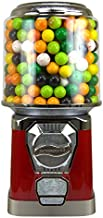 Gumball Machine - Bouncy Balls Vending Machine - Toys Vending Machine - Capsule Vending Machine - Red Body Cylinder Bank - Without Stand (Red)