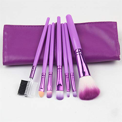 Pinceau De Maquillage Set, Advanced Maquillage Synthétique Pinceau, Maquillage Outil, Pinceau Blush, Pinceau De Maquillage 7pcs, Outil De Beauté (purple)