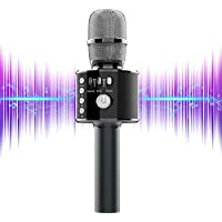 AutoYet2 4-in-1 Portable Handheld Rechargeable Bluetooth Wireless Karaoke Microphone