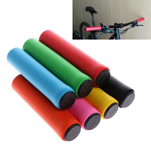 Dairyshop, manopole per manubrio da bici in silicone antiscivolo per ciclismo in montagna, Mtb, Uomo, Black