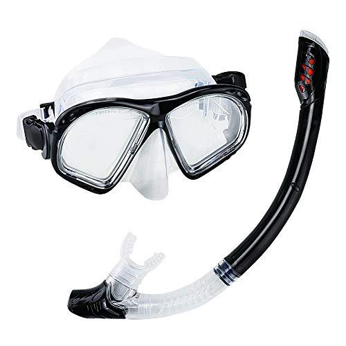 Welltop Snorkelset voor volwassenen, met duikbril en snorkelbuis, professioneel snorkelmasker voor volwassenen