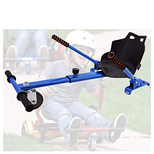 RONGJJ Hoverboard, Asiento Cómodo para Kart, Kart Infantil con Asiento para Hoverboards, Se Adapta A 6.5 Pulgadas, 8 Pulgadas Y 10 Pulgadas, Blue