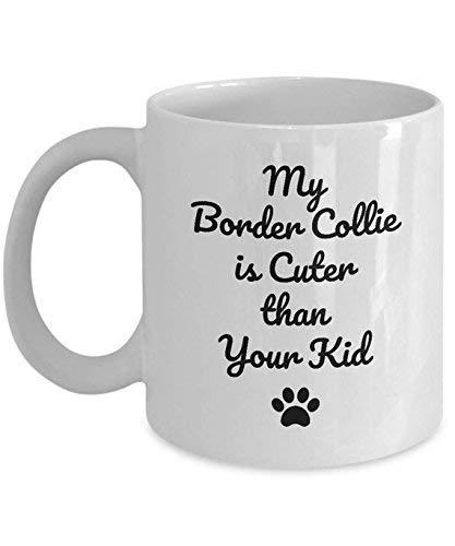 NA Taza del Collie Mi Border Collie es más Lindo Que su niño Regalo Divertido de la Taza de café del Amante del Perro del Border Collie, 11 oz.