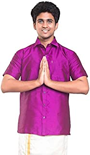 THANGAMAGAN Mens Shirt M Violet Size 36