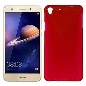 Mb Accesorios Funda Carcasa Gel Roja para Huawei Y6 II/Honor 5A, Ultra Fina 0,33mm, Silicona TPU de Alta Resistencia y Flexibilidad