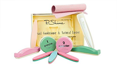 P-SHINE - Kit de manicura japonesa profesional para el cuidado de uñas y tratamiento de reparación de placas de uñas + instrucciones para dañar las uñas