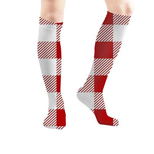 ouyjian Retro Tablecloth Texture Illustrations Clip Art Picnic Vintage Sport Compression Socks,Athletic Socks,Long Tube Stockings 50Cm/19.7 Inch