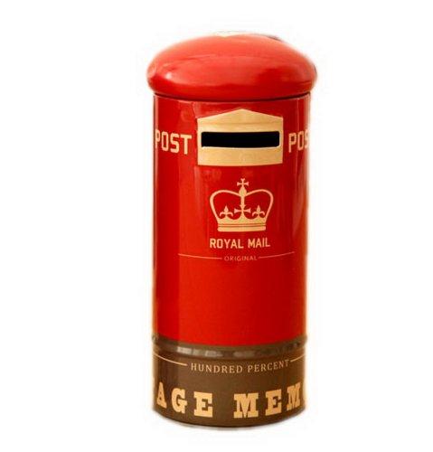 Titulaire boîte aux lettres Coin Coin Tin Gift Box Rouge pour les enfants