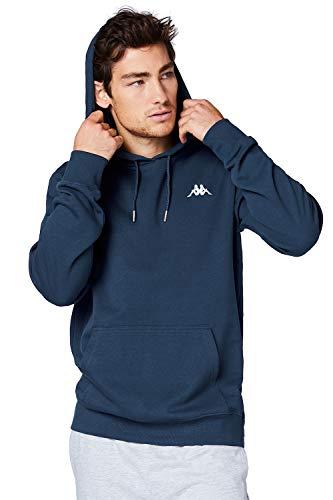 Kappa Hoodie VENNO I Unisex Kapuzen Sweatshirt I Pullover aus hochwertiger Baumwolle I Pulli für Freizeit & Sport I Kleidung für Frauen & Männer XL ,19-4024 Dress Blues