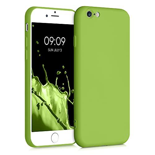 kwmobile Cover Compatibile con Apple iPhone 6 / 6S - Custodia in Silicone Effetto Gommato - Cover Back Case Protezione Cellulare - Oliva Verde