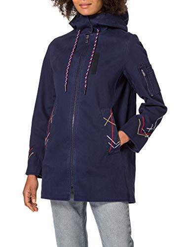 Desigual Womens CHAQ_ZADAR Jacket, Blue, XXL