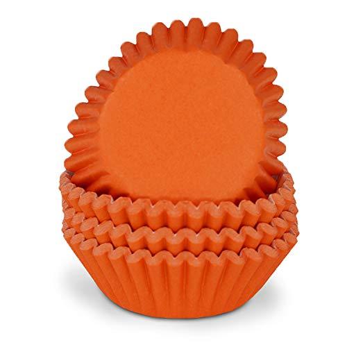 Miss Bakery's House Mini-Muffinförmchen - Orange - 200 Stück - Ø 32 mm x 20 mm - Papierförmchen für Cupcakes, Muffins, Pralinen - Backförmchen - Deutsche Marke