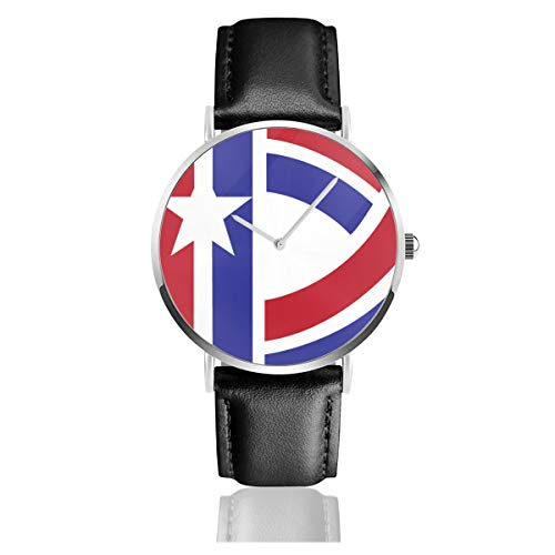 D Day Thick White Edges V2 Schwarz Quarzwerk Edelstahl Lederband Uhren Casual Fashion Armbanduhren