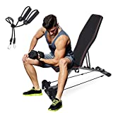 anconats Weight Bench Adjustable Foldable Workout Bench for Man and Woman, Ab Machine and Fitness Equipment Fit Home Gym Full Body Workout with Fast Folding, Strength Training Equipment Exercise Bench…