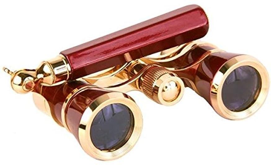 ミネラル三角手紙を書くLaScala Optics IOLANTA Lorgnette Opera Glasses - Burgundy body, Golden LSI3x25-LSI-03 by LaScala Optics