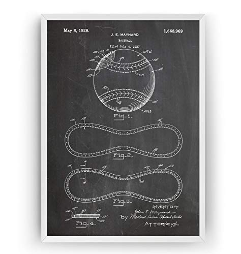 Baseball-Nähte 1928 Patent Poster - Baseball Stitching Jahrgang Drucke Drucken Bild Kunst Geschenke Zum Männer Frau Entwurf Dekor Art Blueprint Decor - Rahmen Nicht Enthalten