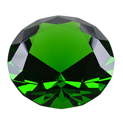 LONGWIN 50mm (2') Crystal Faceted Diamond Paperweight Wedding Favor Home Decor (Green)