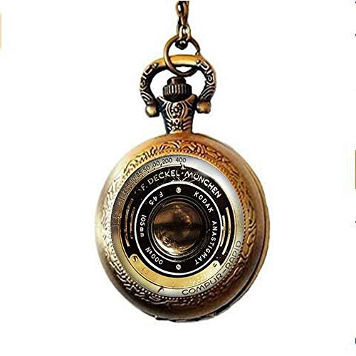 Vintage Camera Pocket Horloge Ketting, Camera Lens Sieraden, Oude Camera Sieraden, Art Charm Sieraden Glas Foto Sieraden