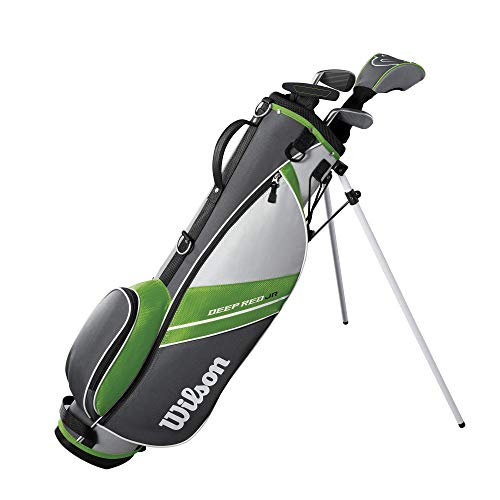 Wilson Youth Deep Red Tour Complete Golf Set -Right Hand, Small, Green