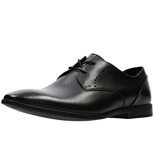 Clarks Bampton Lace, Derbys Homme, Noir (Black Leather), 43 EU
