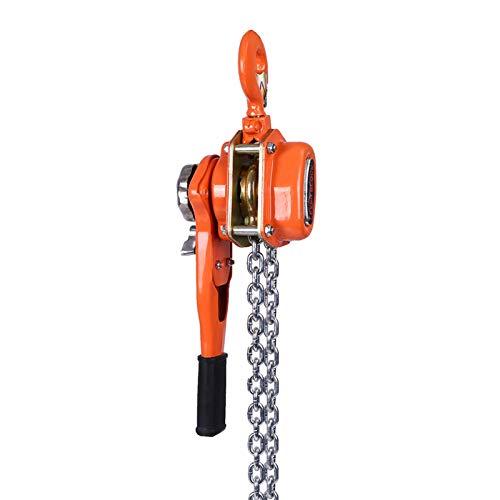 Trinquete de elevación de bloque de cadena, polipasto de palanca manual, elevación de polea de palanca 3T / 3000kg 3 metros de cadena
