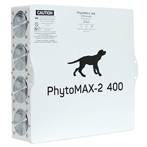Black Dog LED PhytoMAX-2 400 | LED Grow Lights | High Yield Full Spectrum Indoor Grow Light with Bonus Quick Start Guide