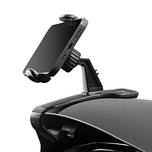 WanloNer スマホ車載ホルダー 電話番号ロゴ 車 スマホホルダー 360度回転 携帯 ホルダー 角度調節可能 すまほ ホルダー 着脱簡単 HUD 電話ホルダー 車載スマホスタンド 片手操作 クリップ式 スタンド に適用する 車と机 3.5-6.8イン