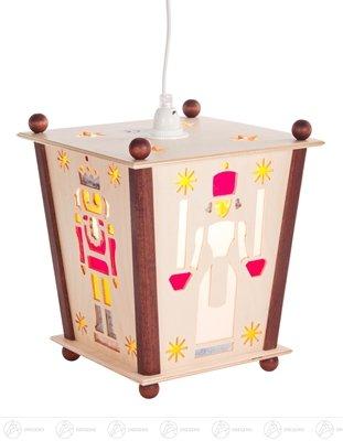 Space decoration lantern with angel, miner, Nutcracker and Incense man, electrical lighting width x height of x depth 22 cmx26 cmx22 cm ore mountains wood lantern Lantern