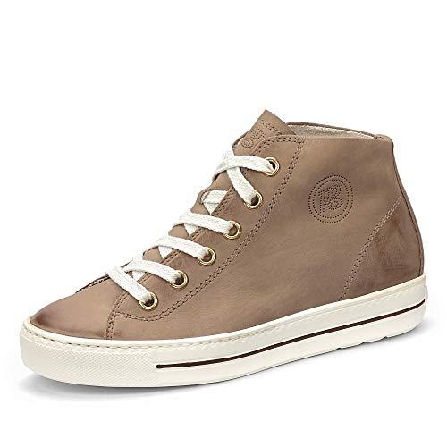 Paul Green Damen Super Soft Hightop-Sneaker, Frauen sportlicher Schnürer, elegant Women's Women Woman Freizeit leger Halbschuh,Braun,5 UK / 38 EU