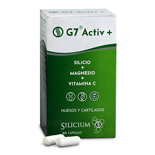 G7 ACTIV | Silicium + Vitamine C + Magnésium | Aide à réduire la fatigue et l'épuisement | Contribue à la formation normale de collagène et de tissu conjonctif