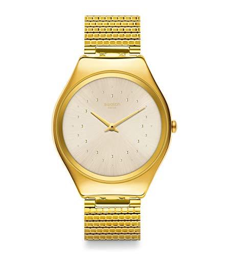 Swatch Reloj Unisex Adulto de Cuarzo analógico con Correa en Acero Inoxidable SYXG106GG