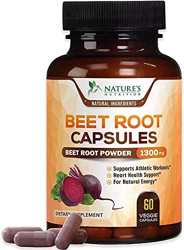 Beet Root Capsules - 1300mg Per Serving - Organic...