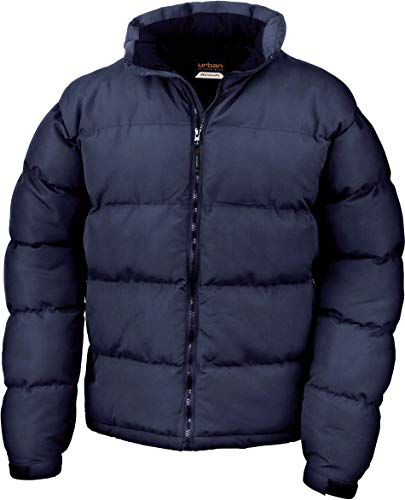 Result Mens Holkham Down Feel Puffer Puffa Coat Jacket, Bleu - Bleu marine, X-Large