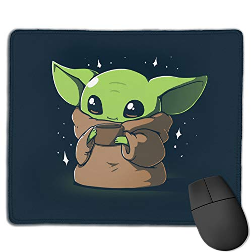 Baby Yoda_ Mouse Pad Star_ Wars_ Gaming Mouse Pads Small Non-Slip Desk Mat for Office/Home 9.8 X 11.8 inch-02