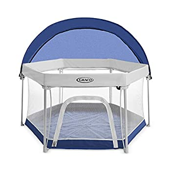 Graco Pack n Play LiteTraveler LXPlayard Outdoor and Indoor Playspace with Compact Fold UV Canopy Canyon
