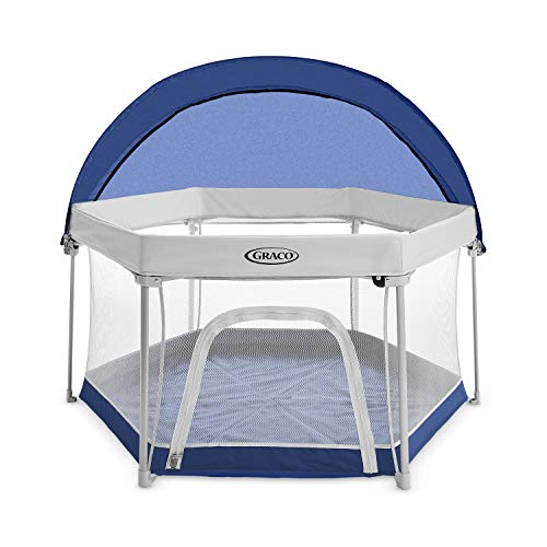 Graco Pack 'n Play LiteTraveler LXPlayard Outdoor and Indoor Playspace with Compact Fold UV Canopy, Canyon