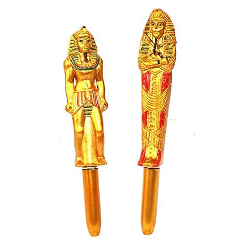 BoBoLing Funny Novelty Egyptian Pharaoh Ballpoint Pens Finger Pen/Stationery Gift Crazy Student Gift/Executive Office Fancy Nice Gift-Random Style Best QualityShop Random Style Pack of 2 Pcs