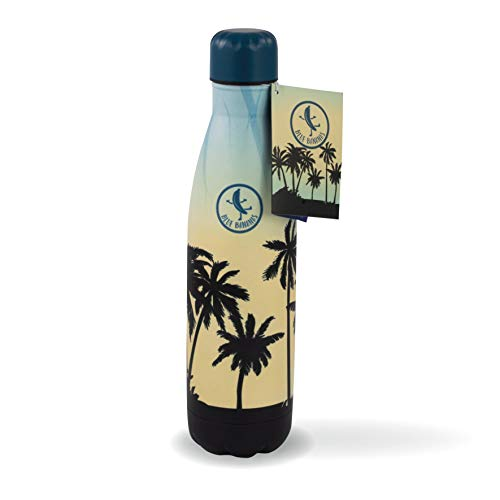 Blue Bananas 500 ml Edelstahl Trinkflasche – Stylische Trinkflasche Edelstahl Vakuum Flasche - Motiv Sunrise Beach