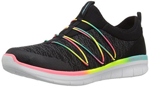 Skechers Synergy 2.0-Simply Chic, Sneaker donna, Nero (Black/Multicolour), 36 EU