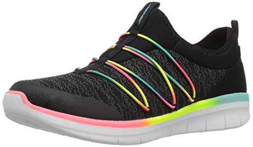 Skechers Synergy 2.0-Simply Chic, Sneaker donna, Nero (Black/Multicolour), 36 EU