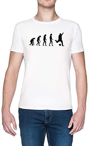 Evolucionado A Tocar Fútbol Blanca Hombre Camiseta Tamaño S White Men