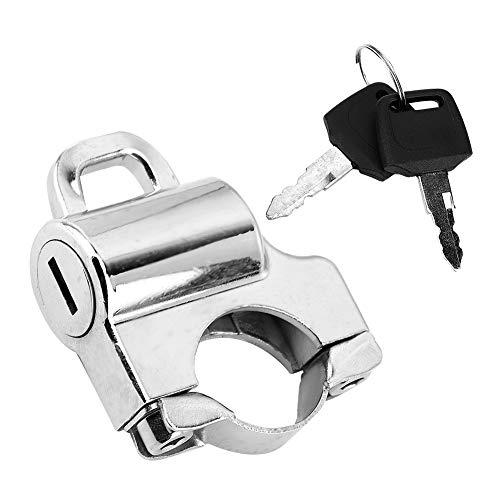 Casco de Bloqueo, Manillar de 22 mm Candado de Seguridad Universal para Casco de Motocicleta Candado con 2 Llaves(Galvanizar)