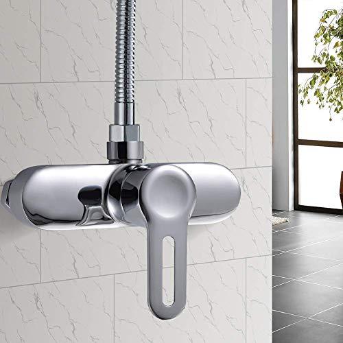 kisimixer Mischbatterie für Dusche Duscharmatur Brausearmatur Einhebelmischer Brausemischer Chrom Bad