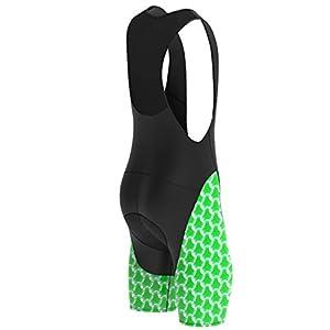 Deportes Hera Ropa Ciclismo Culote Corto con Tirantes y Badana Gel Culotte Ciclistas MTB Hombre… (Verde, M)