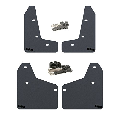 RokBlokz Mud Flaps for 2010-2014 MK6 Volkswagen Golf GTI - Multiple Colors Available - Mud Guards are Custom Cut and Fit - Includes All Mounting Hardware (Black with Black Logo, Short)