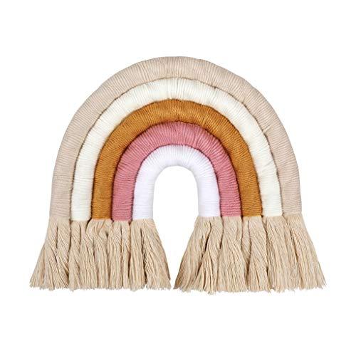 Yunso Hand Woven Regenbogen Wandbehang Für Kinderzimmer, Hauptwanddekor